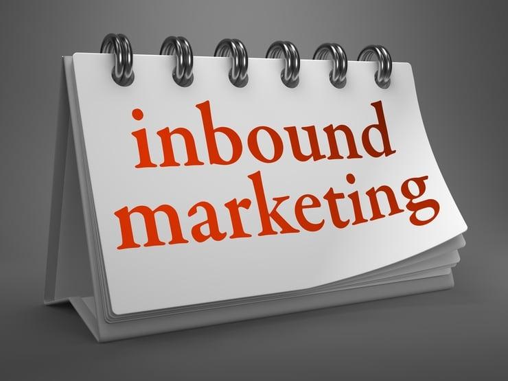 Inbound Marketing - Red Words on White Desktop Calendar Isolated on Gray Background..jpeg