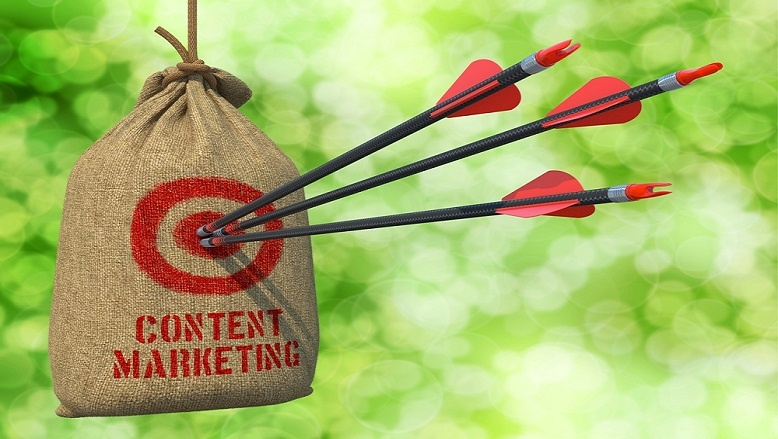 Three-Arrows-Hit-the-B2B-Content-Marketing-Red-Target-on-a-Hanging-Sack.jpg